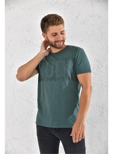 Rodi Jeans Rodi Erkek Flamlı Rodi Baskılı T-Shirt Rd21Ye270002 Haki